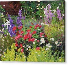Cottage Garden Acrylic Print by William Ireland