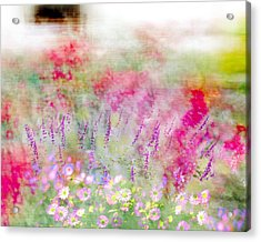 Acrylic Print featuring the photograph Cottage Garden Impressionism by Linde Townsend