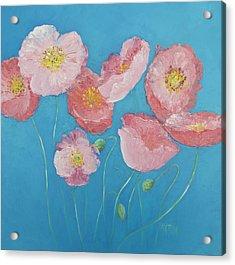 Cottage Garden Poppies Acrylic Print