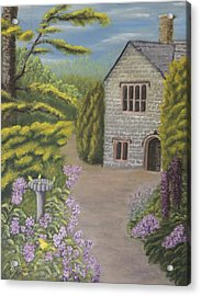 Cottage In The Woods Acrylic Print by Lou Magoncia