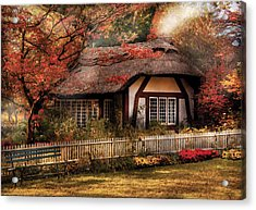 Cottage - Nana's House Acrylic Print by Mike Savad