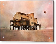Cottage Of The Past Acrylic Print by Betsy C Knapp