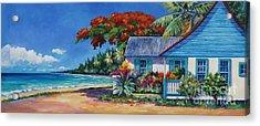 Cottage On 7-mile Beach Acrylic Print by John Clark