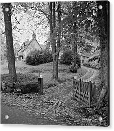 Cottage On Loch Ness - Scotland 1972 - Travel Photography By David Perry Lawrence Acrylic Print by David Perry Lawrence