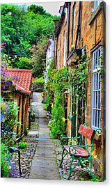 Cottage Row Acrylic Print by Dave Woodbridge