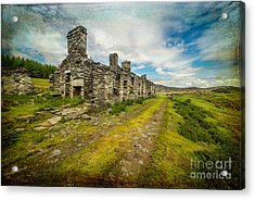 Cottage Ruins Acrylic Print by Adrian Evans