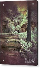 Cottages In The Woods Acrylic Print by Jill Battaglia