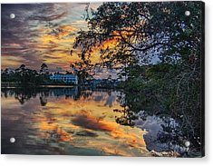 Acrylic Print featuring the digital art Cotton Bayou Sunrise by Michael Thomas