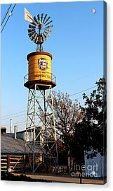 Cotton Belt Route Water Tower In Grapevine Acrylic Print by Kathy  White