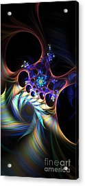 Acrylic Print featuring the digital art Cotton Candy 2 by Arlene Sundby