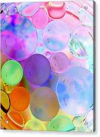 Cotton Candy Bubbles Acrylic Print by Christine Ricker Brandt