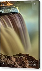 Cotton Candy Falls Acrylic Print by Darleen Stry