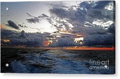 Cotton Candy Sky 2 Acrylic Print by Alison Tomich