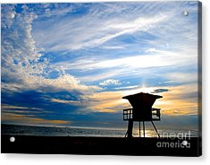 Acrylic Print featuring the photograph Cotton Candy Sky by Margie Amberge