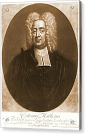 Cotton Mather 1728 Acrylic Print by Padre Art
