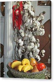 Cotton Acrylic Print by Stephanie Francis