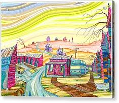 Cottonwood Holiday Court Acrylic Print