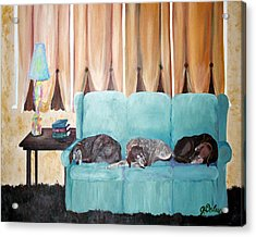 Couch Potatoes Acrylic Print by Gail Daley