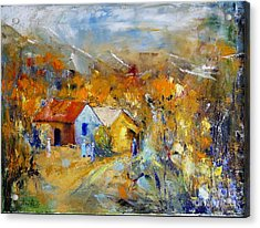 Couleurs D'automne Acrylic Print by Aline Halle-Gilbert