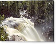 Coulonge Falls Acrylic Print by Eunice Gibb