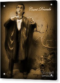 Count Dracula In Sepia Acrylic Print by John Malone