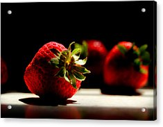 Countertop Strawberries Acrylic Print by Michael Eingle