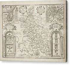 Counties Of England Acrylic Print by British Library