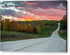 Country Back Roads - Northwest Arkansas Acrylic Print