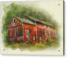 Acrylic Print featuring the photograph Country Barn by Kathleen Holley