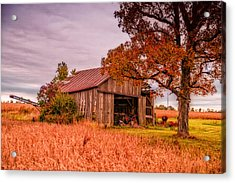 Country Barn Acrylic Print by Mary Timman