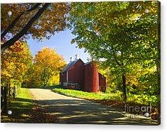 Country Barn On An Autumn Afternoon. Acrylic Print