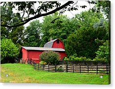 Acrylic Print featuring the photograph Country Barn Vineyard by Cathy Shiflett