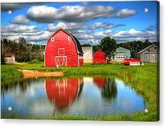 Country Barnyard Acrylic Print by Larry Trupp