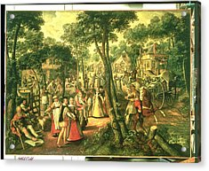 Country Celebration, 1563 Oil On Canvas Acrylic Print by Joachim Beuckelaer or Bueckelaer
