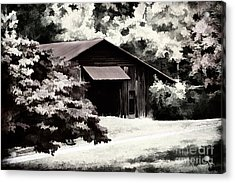 Country Charm In Dramatci Bw Acrylic Print by Darren Fisher