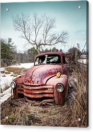 Country Chevrolet - Old Rusty Abandoned Truck Acrylic Print by Gary Heller