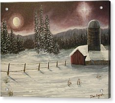 Acrylic Print featuring the painting Country Christmas by Dan Wagner