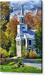 Acrylic Print featuring the photograph Country Church by Barbara Manis