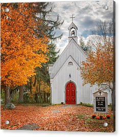 Country Church Acrylic Print by Bill Wakeley