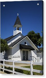 Country Church Acrylic Print by Dee  Savage
