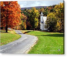 Acrylic Print featuring the photograph Country Church by Tom Brickhouse