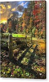 Country Dawn Acrylic Print by Debra and Dave Vanderlaan