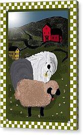Country Day Sheepdog Acrylic Print