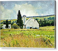 Country Farm Acrylic Print by Dianne  Lacourciere