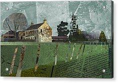Country Farm Acrylic Print by Kenneth North