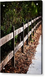 Country Fence Color Acrylic Print