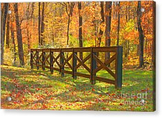 Country Fence Acrylic Print by Geraldine DeBoer