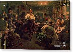 Country Festival Acrylic Print by Ilya Efimovich Repin