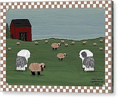 Country Field Sheepdogs Acrylic Print