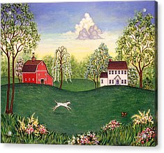 Country Frolic One Acrylic Print by Linda Mears